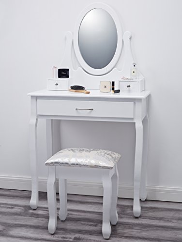 coiffeuse blanche avec miroir maison design. Black Bedroom Furniture Sets. Home Design Ideas