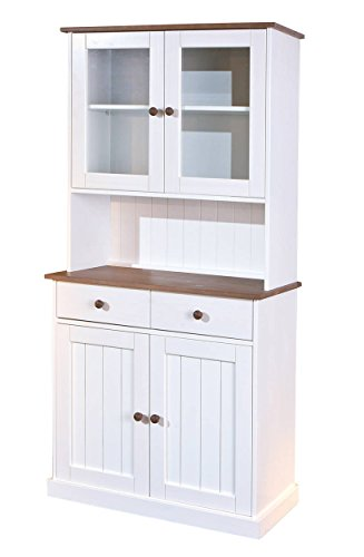 commode buffet vaisselier wersterland 5 2 blanc. Black Bedroom Furniture Sets. Home Design Ideas