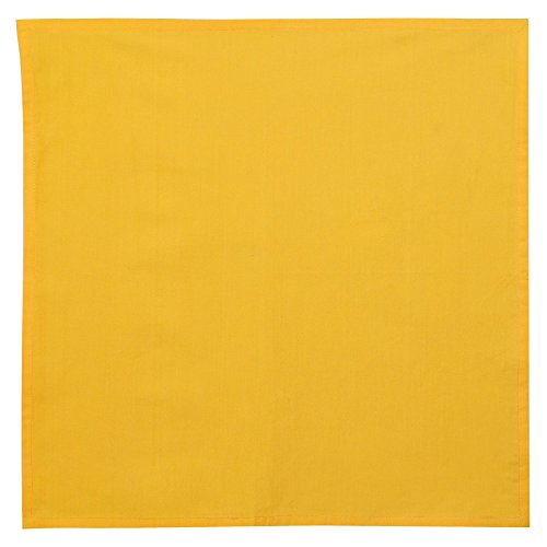 linge de table serviettes de table en coton jaune orange d cor indienne lot de 4 taille 50 8 x. Black Bedroom Furniture Sets. Home Design Ideas