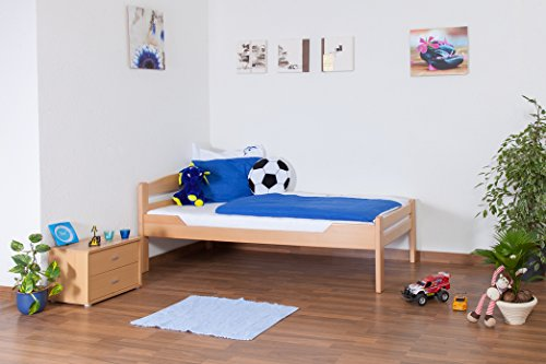 lit pour enfant lit adolescent easy sleep k1 2n en h tre massif naturel dimensions 90 x. Black Bedroom Furniture Sets. Home Design Ideas