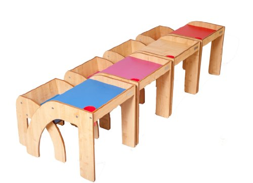 Little helper funstation solo ensemble table bureau et chaise en bois pour enfants nature Chaise pour table en bois