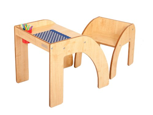 Little helper funstation solo ensemble table bureau et for Bureau en bois pour enfant