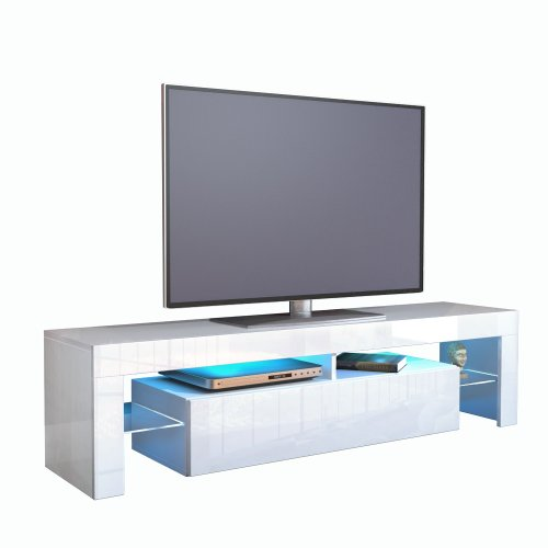 meuble tv bas armoire basse lima v1 v2 en blanc. Black Bedroom Furniture Sets. Home Design Ideas