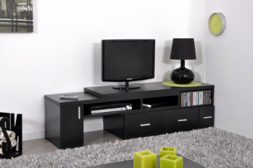 meuble tv extensible noir. Black Bedroom Furniture Sets. Home Design Ideas