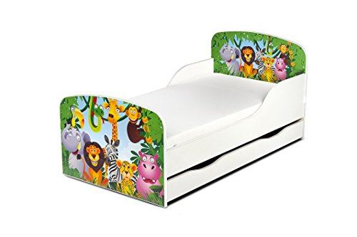 moderne lit d 39 enfant toddler motif jungle animaux lit pour. Black Bedroom Furniture Sets. Home Design Ideas