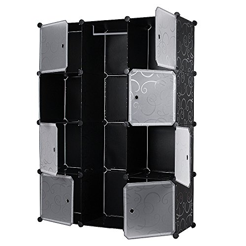 songmics diy armoire penderie cubes tag re de rangement. Black Bedroom Furniture Sets. Home Design Ideas