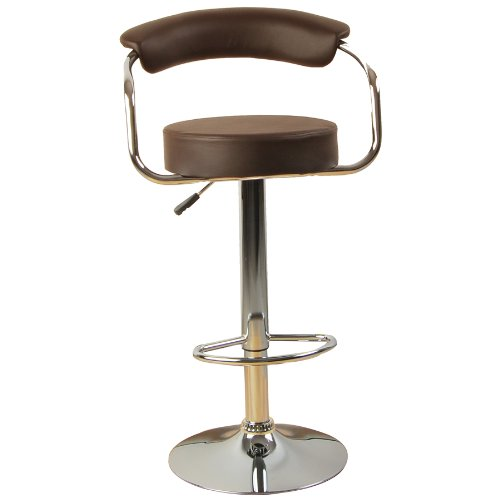 Tabouret de bar baccara marron cuisine americaine ilot central for Tabouret ilot central cuisine