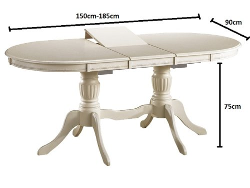Table de salle manger style bettina massif 90 x 150 x 75 for Table salle a manger 90