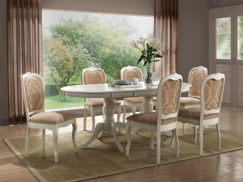 Table de salle manger style bettina massif 90 x 150 x 75 for Table a manger bois blanc