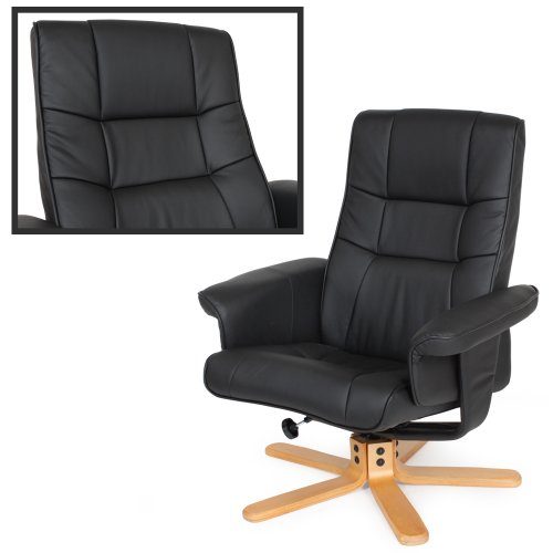tectake fauteuil relax tv pour la d tente avec pouf en. Black Bedroom Furniture Sets. Home Design Ideas