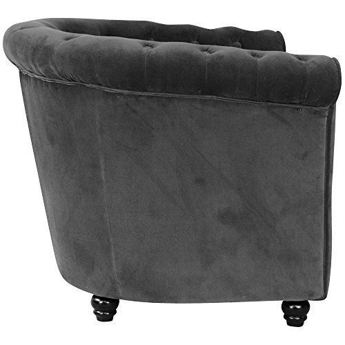 fauteuil chesterfield velours gris anthracite. Black Bedroom Furniture Sets. Home Design Ideas