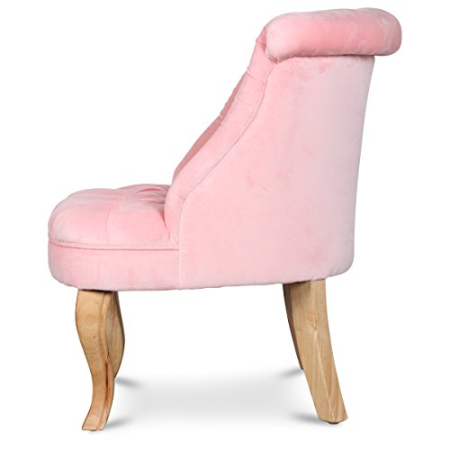 fauteuil crapaud capitonn velours rose trianon. Black Bedroom Furniture Sets. Home Design Ideas