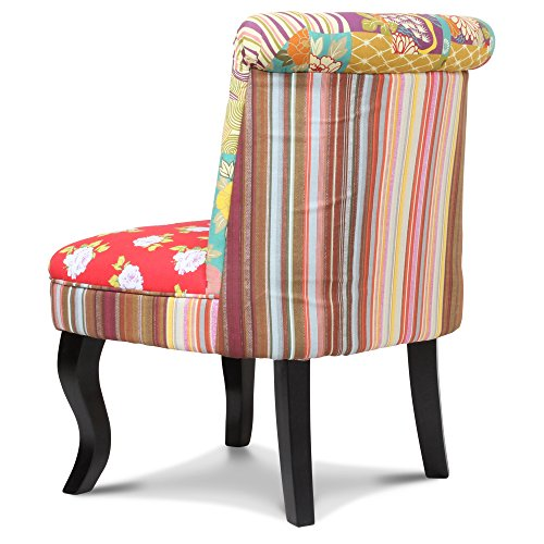 Fauteuil crapaud tissu patchwork gipsy - Fauteuil crapaud tissu ...