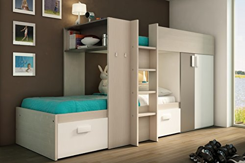 lit superpos enfant ultra moderne 90 200 coloris bois. Black Bedroom Furniture Sets. Home Design Ideas