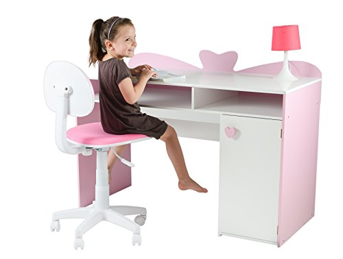 my note deco 066501 loli bureau chambre fille mdf rose. Black Bedroom Furniture Sets. Home Design Ideas