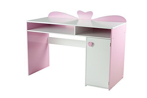my note deco 066501 loli bureau chambre fille mdf rose blanc 120 x 54 5 x 87 5 cm. Black Bedroom Furniture Sets. Home Design Ideas