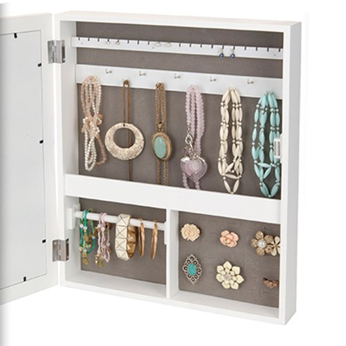 armoire coffret bijoux en bois avec porte photo multiple. Black Bedroom Furniture Sets. Home Design Ideas