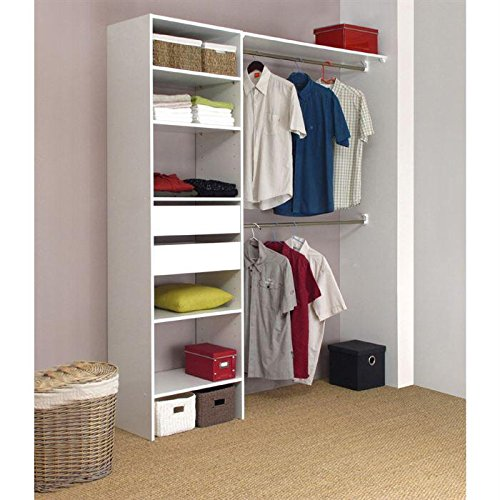 armoire de chambre kit am nagement placard 180 cm 2 tiroirs 2 penderies. Black Bedroom Furniture Sets. Home Design Ideas