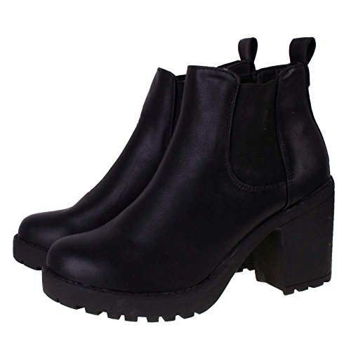 bottines chelsea talon cuir