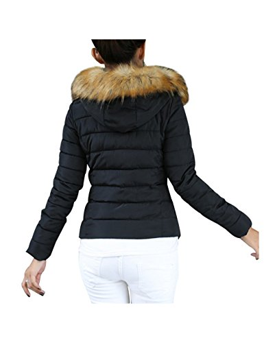 brinny femme veste capuche manteau parka doudoune fille blouson hiver chaud veste manche jacket. Black Bedroom Furniture Sets. Home Design Ideas