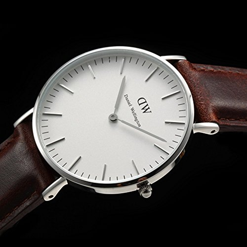 daniel wellington 0607dw st mawes montre mixte quartz analogique cadran argent. Black Bedroom Furniture Sets. Home Design Ideas