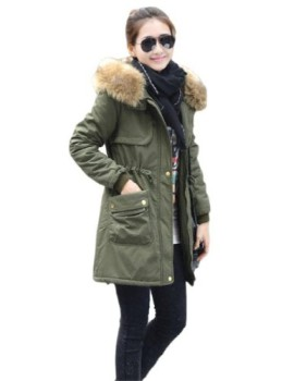 manteau femme capuche hiver fourrure parka femme trench pas cher vert armee etiquette xxxl. Black Bedroom Furniture Sets. Home Design Ideas
