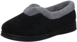 Padders-Teal-Fleece-And-Fur-Lined-Carmen-Chaussons-femme-0