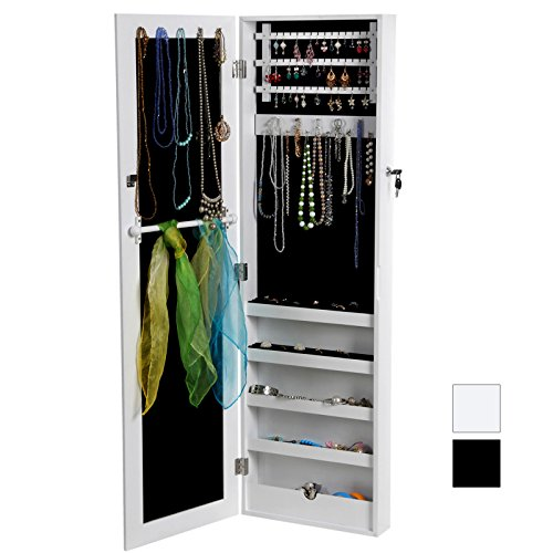songmics 120 x 36 x 9 5 cm armoire bijoux armoire. Black Bedroom Furniture Sets. Home Design Ideas