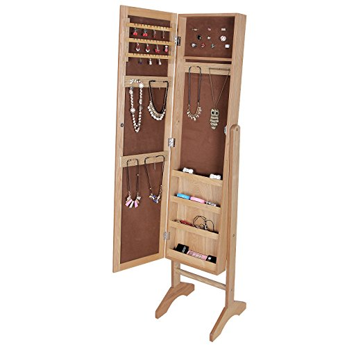 songmics 153 35 5 35 cm armoire bijoux rangement avec. Black Bedroom Furniture Sets. Home Design Ideas