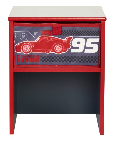 Worlds apart 864746 moderne table de chevet d 39 enfant disney cars mdf noir rouge 36 x 29 5 x 27 5 cm - Table de chevet moderne ...