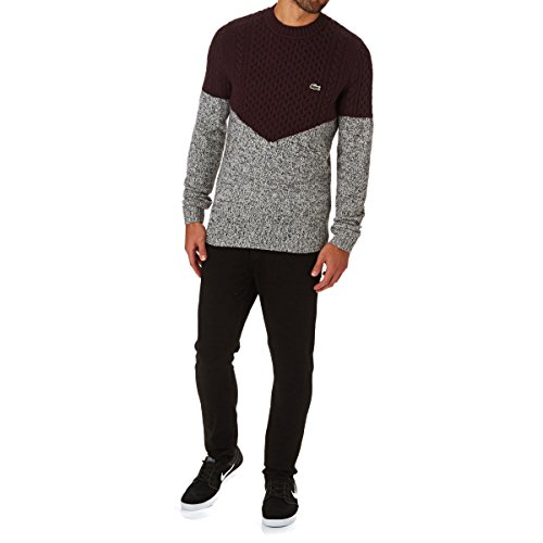49f5e1f13b Lacoste L!VE Colorblock Cable Knit – Pull – Manches Longues – Homme