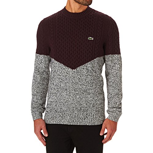 ab9f8c9b6e Lacoste L!VE Colorblock Cable Knit - Pull - Manches Longues - Homme
