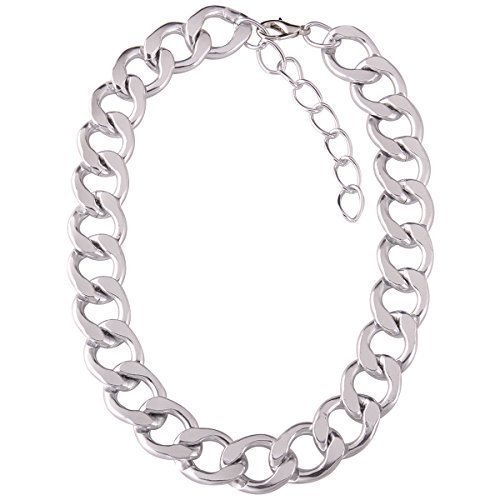 collier chaine grosse maille femme