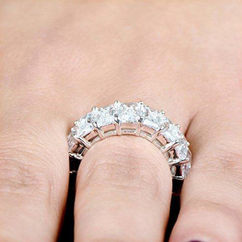 claw eternity bands jewellery set band silver products cz ring stacking wink