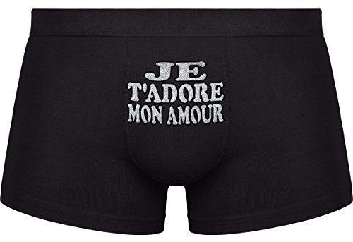 saint valentin cadeau je t 39 adore mon amour les boxers pour hommes. Black Bedroom Furniture Sets. Home Design Ideas