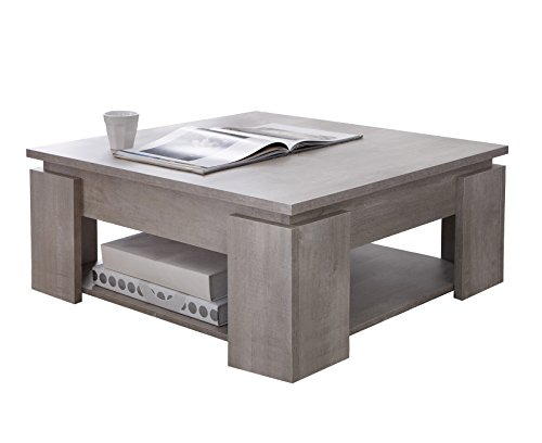 Demeyere 230344 s gur table basse panneau de particules - Table basse 80 x 80 ...