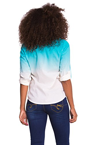 Longues – Normale Selva Taille Chemisier Desigual Femme Manches IW9eHbED2Y