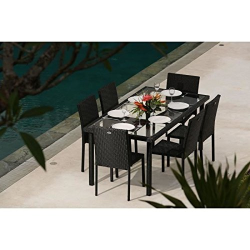 Ensemble table de jardin 180 cm et 6 chaises r sine for Ensemble table jardin