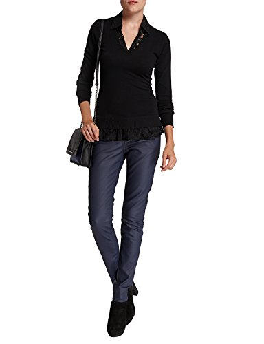 Longues Fabricant Col Femme Chiné Gris gris Xs Uni 36 taille Polo Fr Manches Pull Morgan CwpqaXa