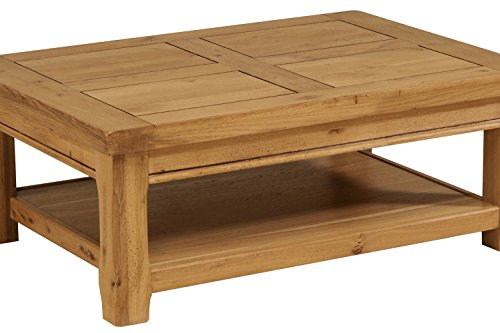 Parisot 0701taba artisan table basse bois ch ne 42 5 x 110 x 80 cm - Table de salon en bois ...