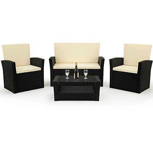 salon de jardin en polyrotin 10 pi ces salon ext rieur. Black Bedroom Furniture Sets. Home Design Ideas