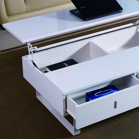 Easy Mutifonction Basse Table Relevable Laque Blanc T1lKF3Jc