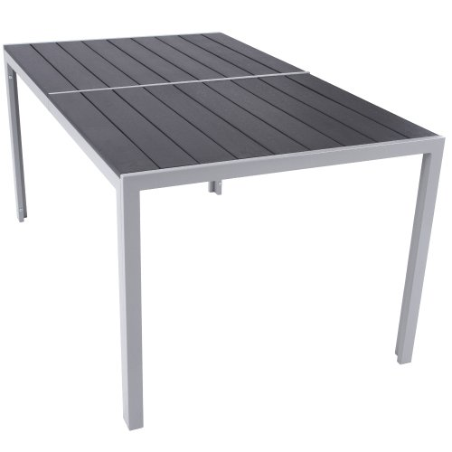 table de jardin structure en aluminium 150 x 90 x 72. Black Bedroom Furniture Sets. Home Design Ideas
