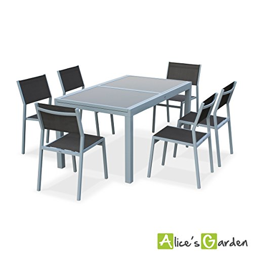 salon de jardin extensible salon table de jardin. Black Bedroom Furniture Sets. Home Design Ideas