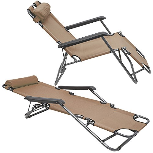 Chaise longue inclinable et pliante transat de jardin for Chaise inclinable