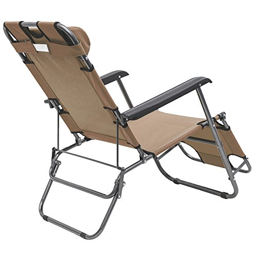 Chaise longue inclinable et pliante transat de jardin for Chaise longue pliante camping