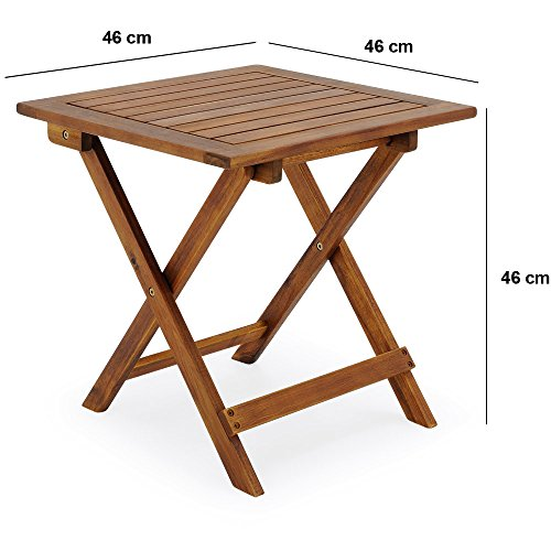 Table basse pliante en bois tables jardin d 39 appoint 46x46cm pliable - Table basse pliante but ...