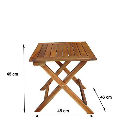 Table d appoint pliable en bois dionysos table basse - Table basse pliante bois ...