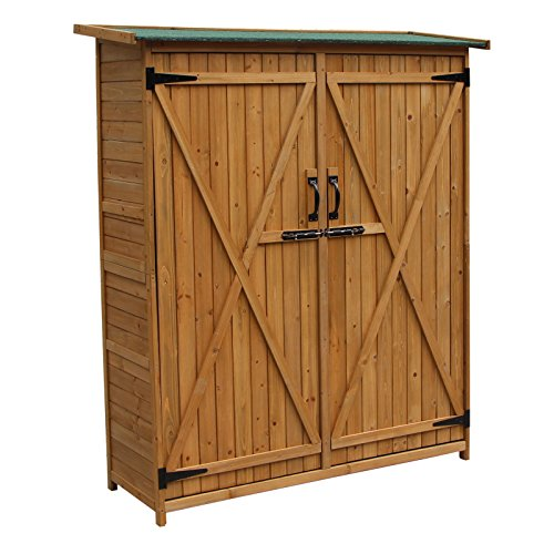 cabane de jardin doubles portes 1400x500x1620 mm en bois. Black Bedroom Furniture Sets. Home Design Ideas