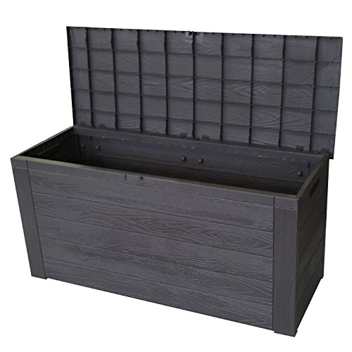coffre de rangement en plastique pour le jardin coffre de jardin 300 l 120x58x46cm anthracite. Black Bedroom Furniture Sets. Home Design Ideas
